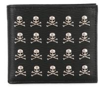 Portemonnaie mit Totenköpfen - men - Kalbsleder