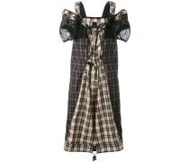 Kariertes Kleid mit Schulterriemen - women