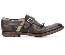 Monk-Schuhe mit Schottenkaromuster
