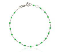 18kt Weißgoldarmband mit Perlen