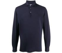 Pikee-Poloshirt mit langen Ärmeln