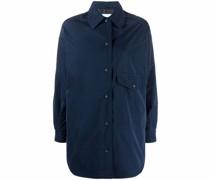 Lange Hemdjacke mit Druckknöpfen