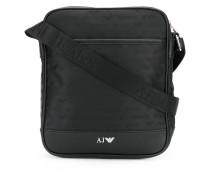 jacquard logo messenger bag