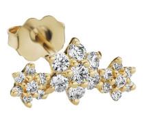 18kt Gelbgoldohrring mit Diamanten