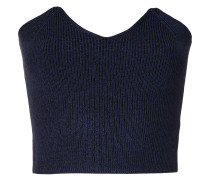 ribbed bodice sweater