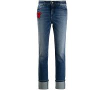 Jeans mit Teddy-Patch