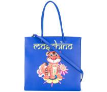 - Handtasche mit Tiger-Print - women - Kalbsleder