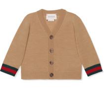 Baby merino Web cardigan sweater