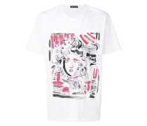 'Medusa' T-Shirt mit abstraktem Print