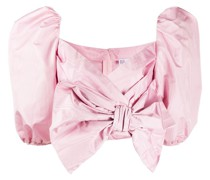 bow-detail cropped blouse