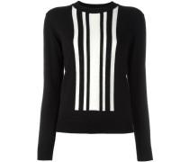 - Intarsien-Pullover mit Art-déco-Streifen