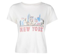 """T-Shirt mit """"New York""""-Print"""