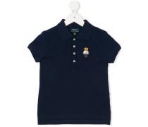 embroidered bear polo shirt
