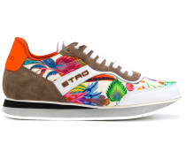 colour-block floral sneakers