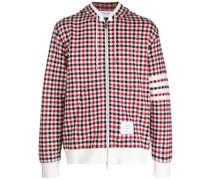 check-pattern 4-Bar hoodie
