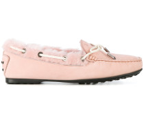 lined tie detail ballerina shoes