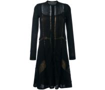 sheer lace panel knee length dress