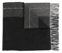fringed colour block scarf