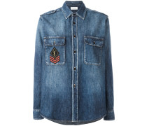 'YSL' Jeanshemd mit Patches - women - Baumwolle