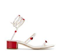 heart embellished sandals