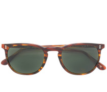 tortoiseshell rectangle frame sunglasses