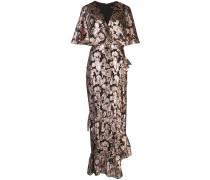 Brokat-Kleid im Metallic-Look