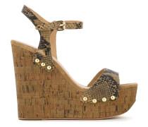 'Biba' Wedge-Sandalen mit Nieten