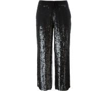 sequin embellished pants - women - Viskose/PVC