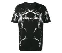T-Shirt mit Blitzmotiv und Logo