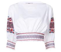 Bluse mit floralen Stickereien - women