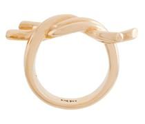 Vergoldeter Ring mit Knoten-Detail
