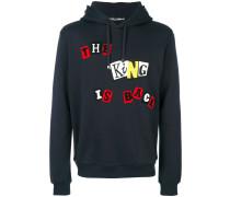 King appliqué detail hoodie