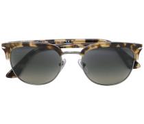 tortoiseshell-effect square sunglasses