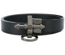 bolt buckled belt - men - Leder - 90