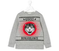 Angry Cat print sweatshirt