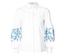 Embroidered balloon sleeve shirt