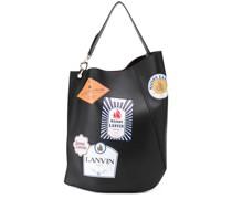 patch-print tote bag