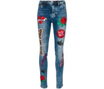 'Teddy Rainbow' Skinny-Jeans