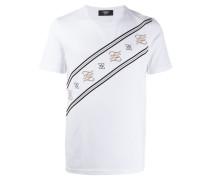T-Shirt mit Karligraphy-Stickerei