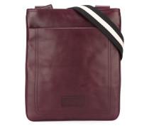 striped strap shoulder bag