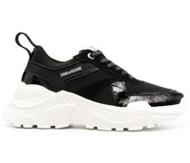 Future Sneakers mit Kroko-Effekt