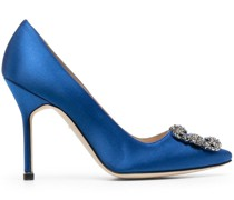 Hangisi jewel-buckle pumps