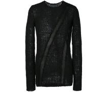 Pullover mit Ledereinsatz