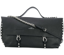 studded chain and hook bag