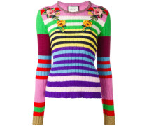 embroidered striped jumper
