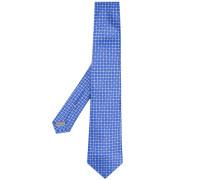geometric flower tie - men - Seide