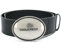 wide logo buckle belt
