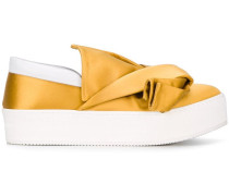 Slip-On-Sneakers aus Satin - women
