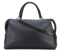 - large Boston bag - women - Baumwolle/Kalbsleder
