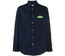 camouflage logo patch shirt